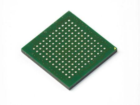 microelectronics: BGA chip
