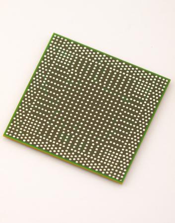 Back side of BGA chip photo
