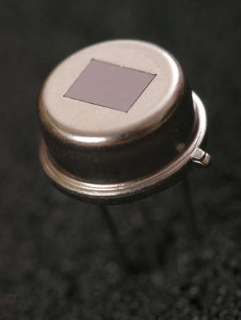 Macro picture of an electronic infrared motion sensor