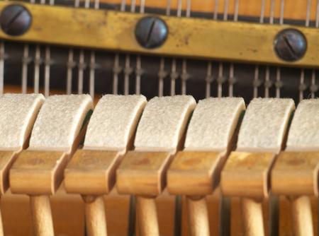wood craft: Felt on piano hammers