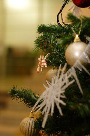 christmastree: fir, spruce, fir-tree, fur-tree, Christmas tree, X-mas, New-Year tree decorations, Christmas-tree decorations, sphere, ball Stock Photo
