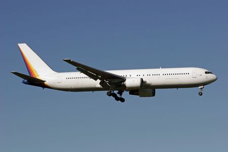 jetplane: Boeing 767 atterrando a Auckland International Airport