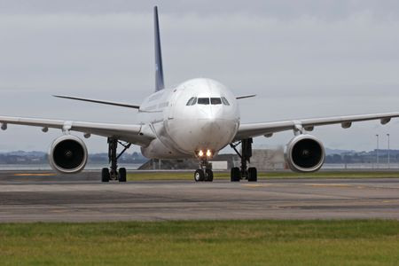 undercarriage: Airbus A330 at Auckland International Airport