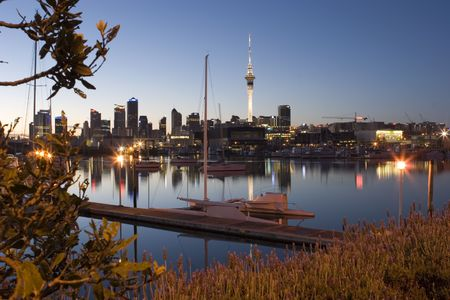 zealand: View of Auckland City
