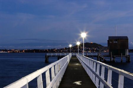 View from Orakei Wharf looking towards Mt Victoria and Devonport. Stock Photo - 293496
