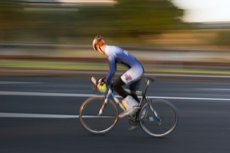 training wheels: Cyclist at Speed Stock Photo