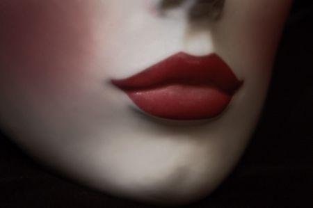 red lips, low key