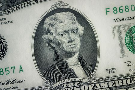 close up  two dollar bill photo
