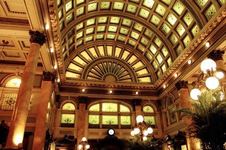 glass ceiling: elaborate interior - glass ceiling windows Stock Photo