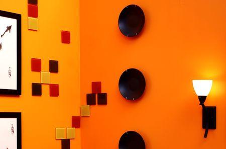 wall design - interior decorating Stock Photo