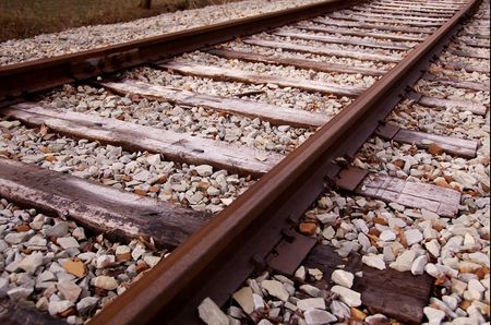trolley track Stock Photo