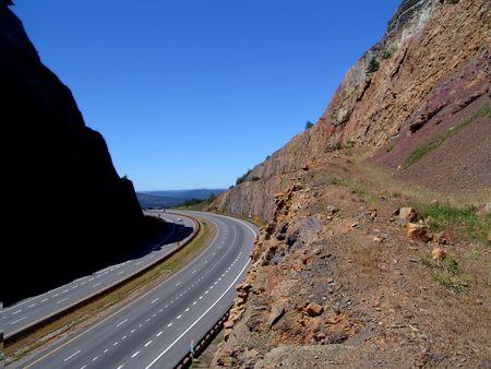 winding road cut in mountain Stock Photo - 365911