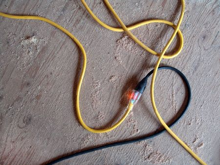 prong: contractors lighted electrical extension cords