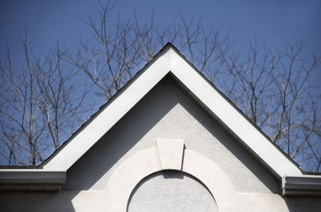 high pitched roof with arched molding Stock Photo - 383564