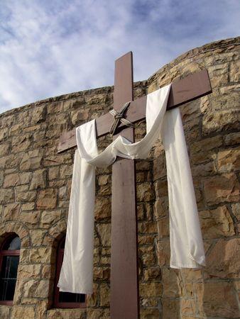 arrepentimiento: Cruz cristiana con un pa�o