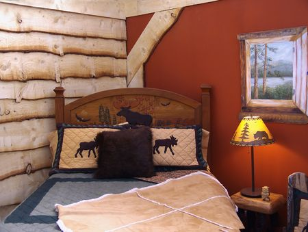 country style bedroom Stock Photo