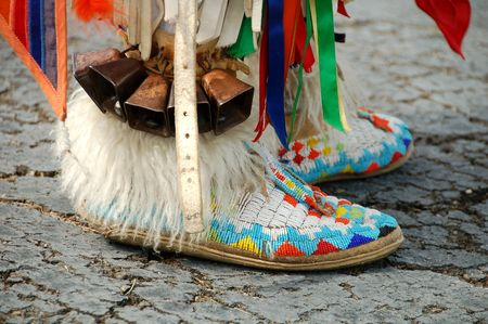 colorful Native American boots Stock Photo