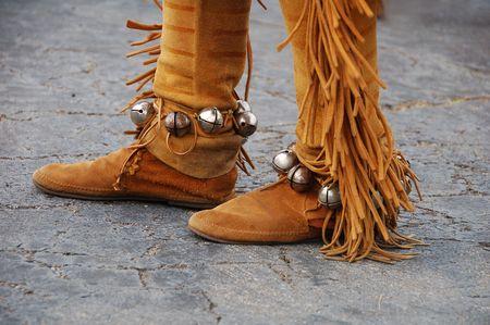 regalia: Native American  shoes Stock Photo