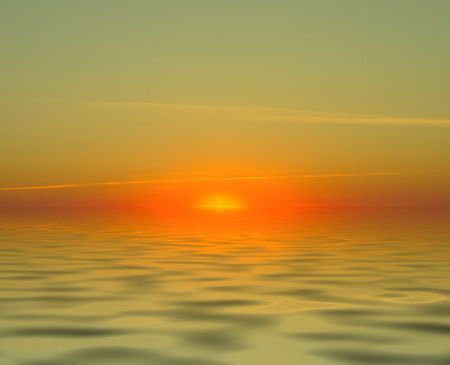 simple gorgeous sunset over water with no landscape elements