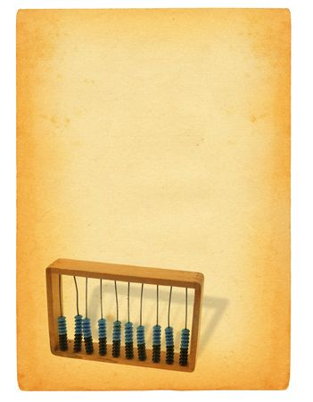 old sheet of paper with abacus motif photo