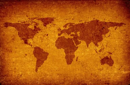 scabrous: old grunge world map
