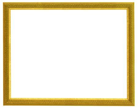 golden horizontal frame isolated on white background Stock Photo - 863329