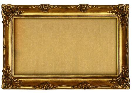 empty painting isolated on white background