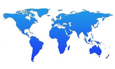 shaded: blue shaded world map on white background