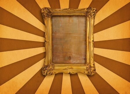 old gilded picture frame on retro background Stock Photo - 965524