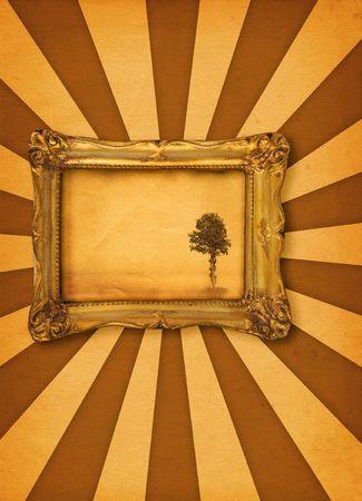 Malen mit einsamen Baum Motiv, Foto insde ist mein Eigentum  Lizenzfreie Bilder