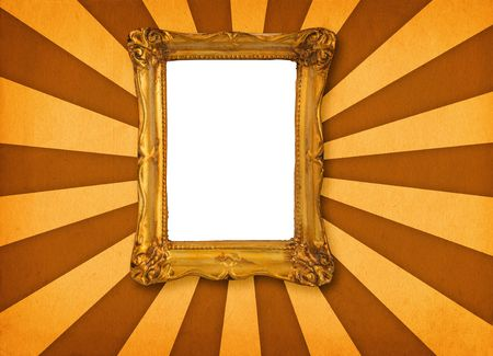 hollow: old hollow picture frame on retro background
