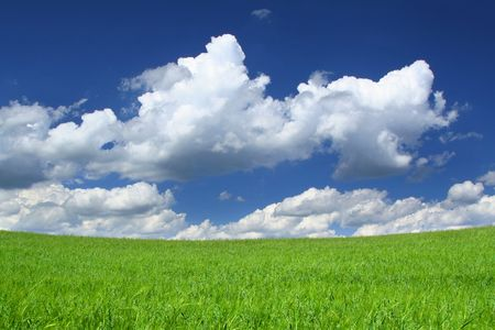 horrizon: up the hill towards gorgeous sky, focus is set on horizon line
