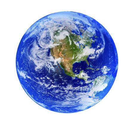 bright globe isolated on white background