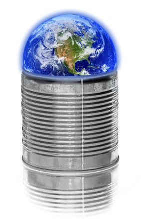 concept of preserving our world against white background Stock Photo - 1254843