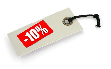 infringement: close-up of a Sale tag against white, a small shadow under it, no copyright infringement