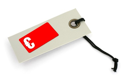 infringement: price tag with € symbol,  a small shadow under it, no copyright infringement Stock Photo