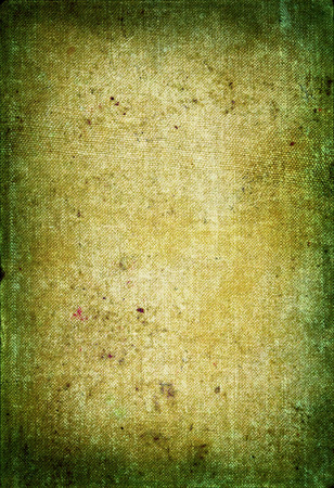 scabrous: close-up of very stained material background burnt on edges Stock Photo