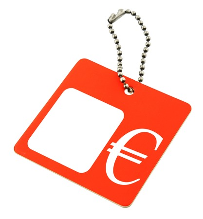 price tag with € symbol, copy space for price, no copyright infringement Stock Photo - 1704755