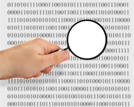 concept of searching for data, binary code is abstract photo