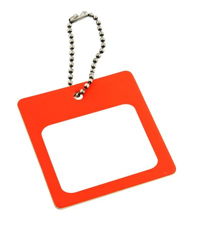 pricetag: Blank price tag with framed copy space against white background