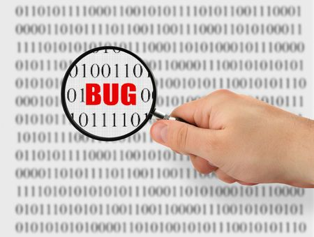 concept of searching for a bug, binary code is abstract Stock Photo - 1797003