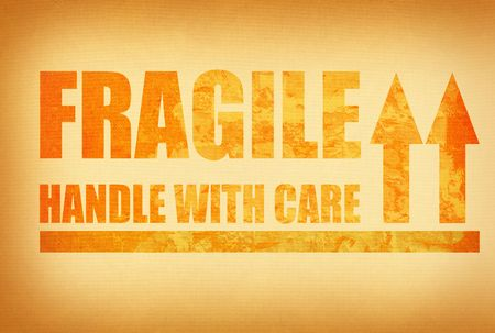 handle with care: fragile , handle with care, photo does not infringe any copyright Stock Photo