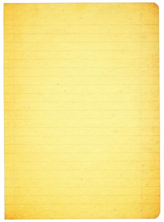 piece of stained lined paper isolated on pure white background Stock Photo - 2242134