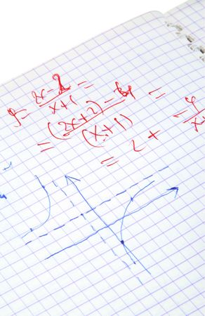 hand written: hand written maths calculations isolated on white