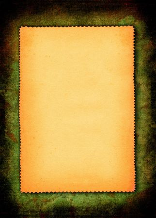 yellowed: piece of yellowed paper against abstract material background