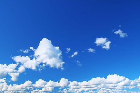 bright summer sky with cumulus clouds   photo
