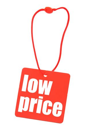 tag with low price inscription, there is no infringement of trademark copyright photo