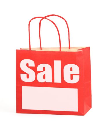 pricetag: Shopping bag with copy space, photo does not infringe any copyright Stock Photo