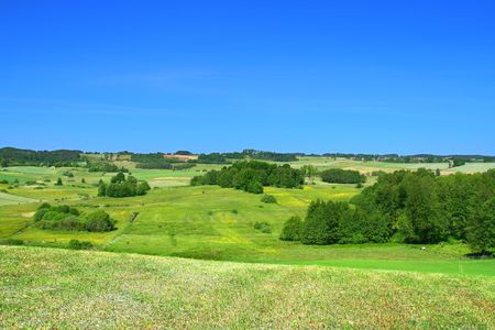 summer landscape with cloudless sky Stock Photo - 3296037