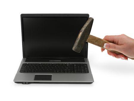 computer problems: frustrato con problemi di computer